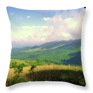 Throw Pillow featuring the photograph A View From Smith Mt. by Jim Whalen