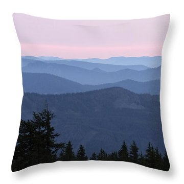 A View From Timberline Throw Pillow