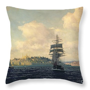 A View Of Constantinople Throw Pillow by Michael Zeno Diemer