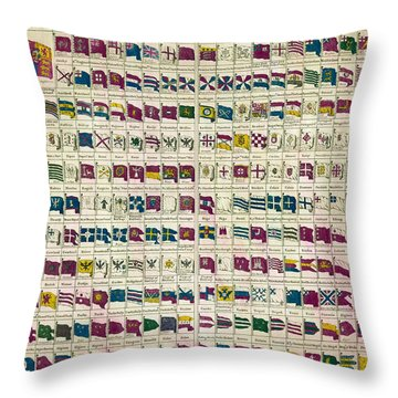 A View Of The Flags Throw Pillow by Georgia Fowler