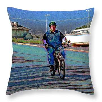 A Vintage Whizz Leading Throw Pillow