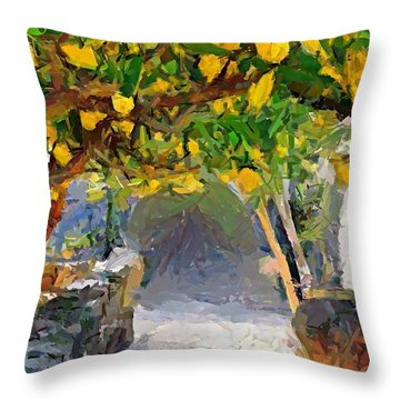 A Voult Of Lemons Throw Pillow