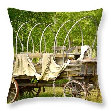 A Wagon Throw Pillow