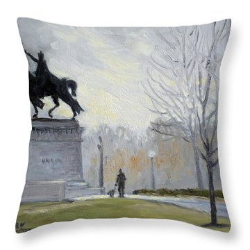 A Walk In Forest Park In St.louis Throw Pillow