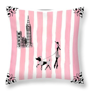 A Walk In London Throw Pillow