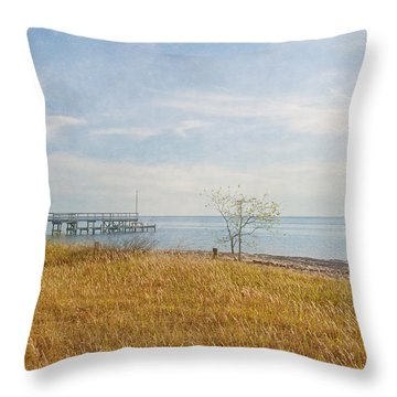 A Walk In Nature Throw Pillow by Kim Hojnacki