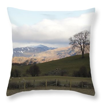 Throw Pillow featuring the photograph A Walk In The Countryside In Lake District England by Tiffany Erdman