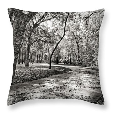 A Walk In The Park Throw Pillow by Darryl Dalton