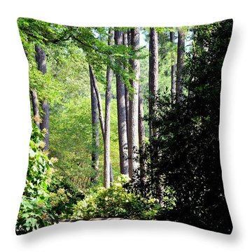 A Walk In The Shade Throw Pillow by Maria Urso