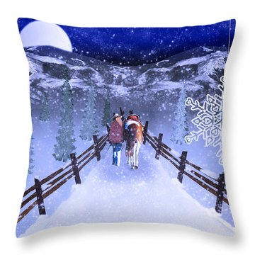 A Walk In The Snow 2 Throw Pillow