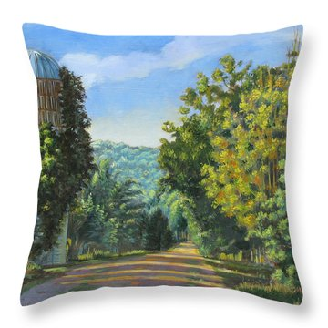 A Walk In Vermont Throw Pillow by Dominique Amendola