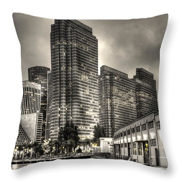 A Walk On The Embarcadero Waterfront Throw Pillow