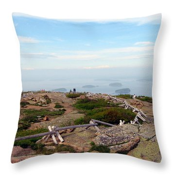 A Walk On The Mountain Throw Pillow by Judith Morris