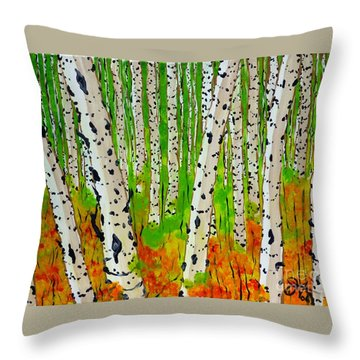 A Walk Though The Trees Throw Pillow