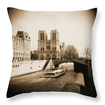 A Walk Through Paris 22 Throw Pillow by Mike McGlothlen