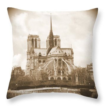 A Walk Through Paris 25 Throw Pillow by Mike McGlothlen