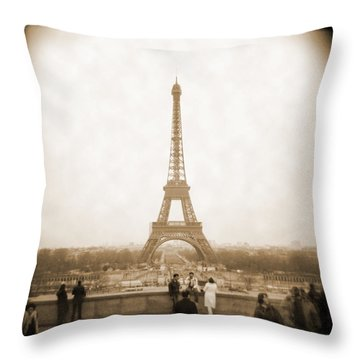 A Walk Through Paris 5 Throw Pillow