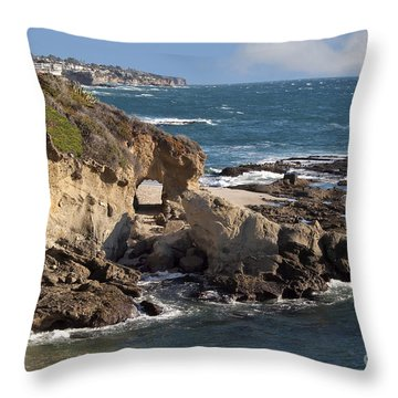 A Walk Through The Rocks Throw Pillow by Loriannah Hespe