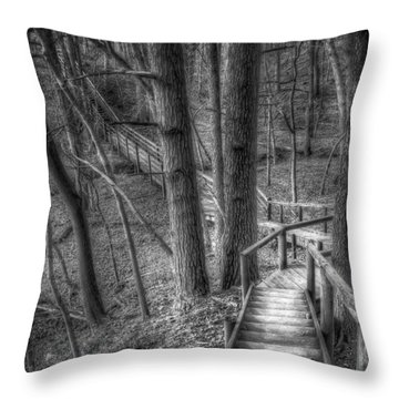 Forest Walk Throw Pillows