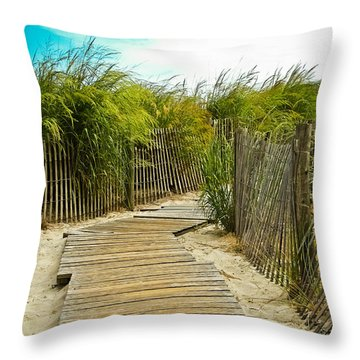 A Walk To The Beach Throw Pillow by Colleen Kammerer