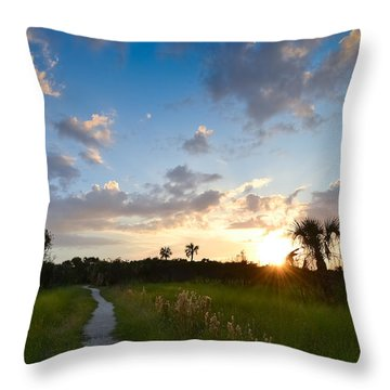 Throw Pillow featuring the photograph A Walk With You... by Melanie Moraga