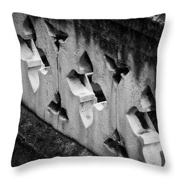 A Wall Between Gardens Throw Pillow by Christi Kraft