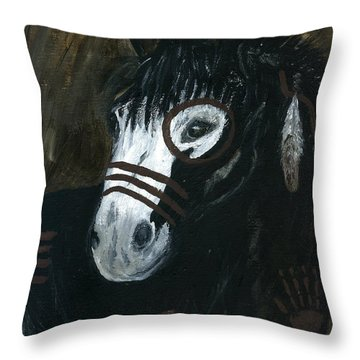 A War Pony Throw Pillow