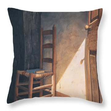 A Warm Welcome Throw Pillow by Michael Humphries