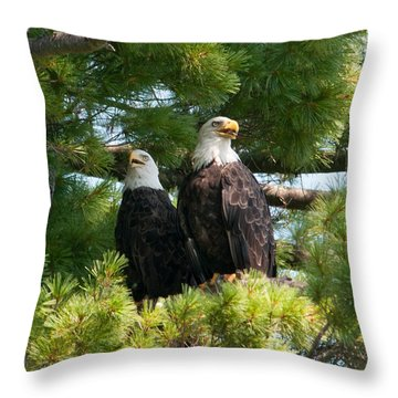 A Watchful Pair Throw Pillow