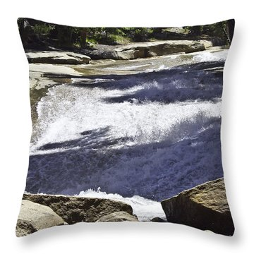 Throw Pillow featuring the photograph A Water Slide by Brian Williamson