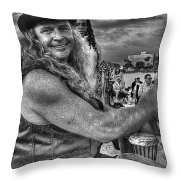A Wavy Gravy Kind Of Guy Throw Pillow by William Fields