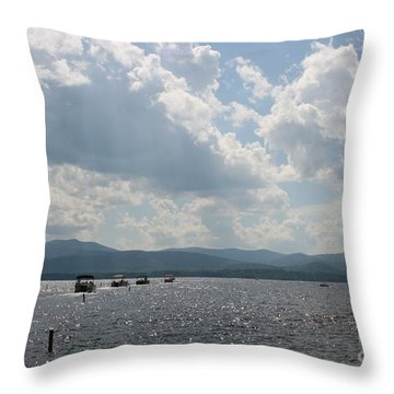 A Weekend On The Water Throw Pillow