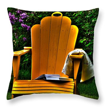 A Well Deserved Rest Throw Pillow by Randi Grace Nilsberg