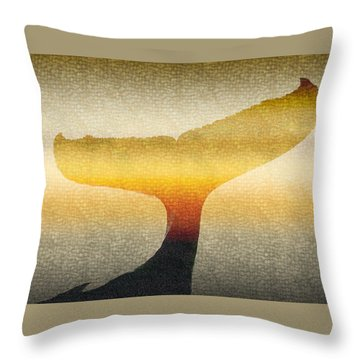 A Whales Tale Throw Pillow by Holly Kempe