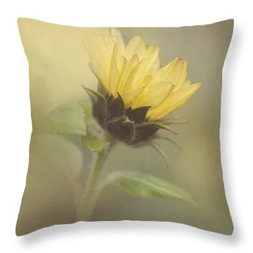 A Whisper Of A Sunflower Throw Pillow by Angie Vogel