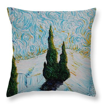 A White Day Throw Pillow by Stefan Duncan
