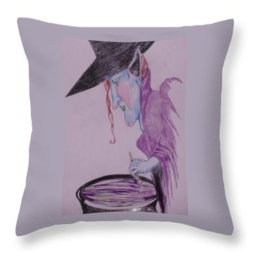 A Wicked Brew Throw Pillow