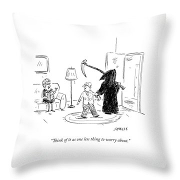 A Wife Says To Her Husband Throw Pillow