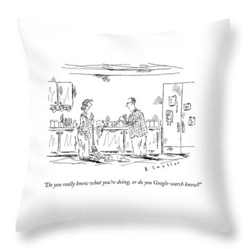 A Wife Speaks To Her Husband Throw Pillow