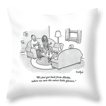 A Wife Tells Guests At A Dinner Party Throw Pillow