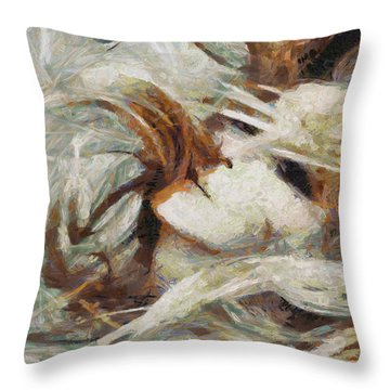 Throw Pillow featuring the painting A Wild Dance by Joe Misrasi