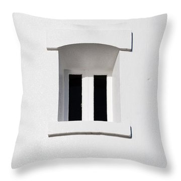 A Window In White Throw Pillow