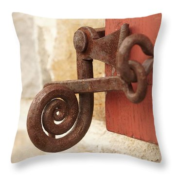 A Window Latch Throw Pillow