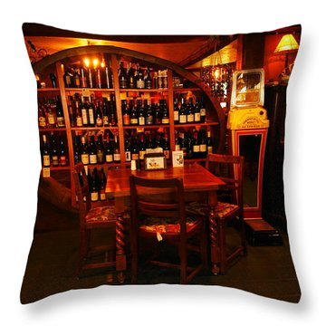 A Wine Rack Throw Pillow by Jeff Swan