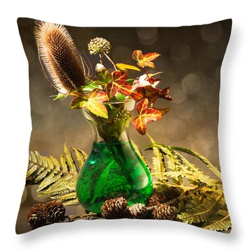A Winter Bouquet Throw Pillow