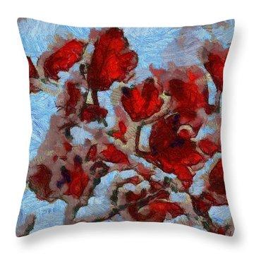 A Winter Eden Throw Pillow by Dan Sproul