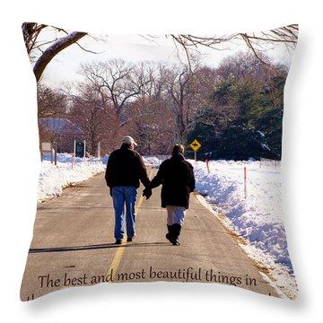 A Winter Walk/inspirational Throw Pillow