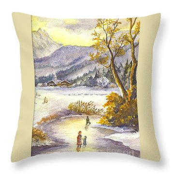 A Winter Wonderland Part 2 Throw Pillow by Carol Wisniewski