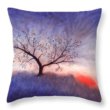 A Wintering Tree Throw Pillow
