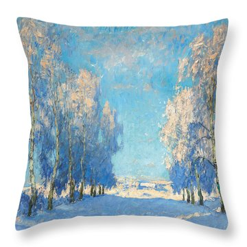 A Winter's Day Throw Pillow
